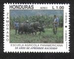 Sellos de America - Honduras -  Escuela Agrícola Panamericana, 50 Años de Aprender Haciendo