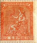 Sellos de Europa - España -  2 céntimos 1873
