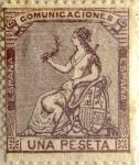 Sellos de Europa - España -  1 peseta 1873