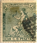 Stamps Spain -  10 céntimos 1873