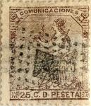 Sellos de Europa - España -  25 céntimos 1873
