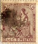 Sellos de Europa - España -  40 céntimos 1873