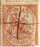 Sellos de Europa - España -  25 céntimos 1874