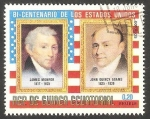 sello : Africa : Guinea_Ecuatorial : James Monroe y John Quincy Adams