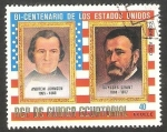 Stamps : Africa : Equatorial_Guinea :  Andrew Johnson y Ulisses Grant