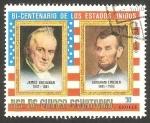 Stamps Equatorial Guinea -  James Buchanan y Abraham Lincoln