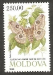 sello : Europa : Moldavia : Mariposa