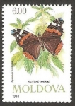 Stamps Europe - Moldova -  Mariposa