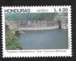 Stamps Honduras -  Proyecto Hidroeléctrico Gral. Francisco Morazán