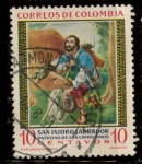 Stamps : America : Colombia :  san isidro labrador