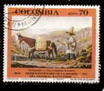 Stamps : America : Colombia :  el correista