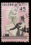 Stamps : America : Colombia :  derechos políticos de la mujer
