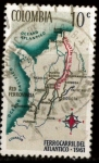 Stamps : America : Colombia :  ferrocarril del Atlantico
