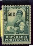 Stamps Portugal -  Centenario del Nacimiento de Camilo Castelo Branco. Teresa de Albuquerque