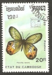 Stamps Cambodia -  Mariposa
