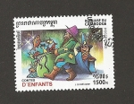 Stamps Cambodia -  Cuentos infantiles