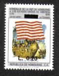 Stamps Honduras -  Homenaje de la Rep. de Honduras a Los Estados Unidos de América