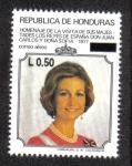 Stamps Honduras -  Homenaje de la Visita de sus Majestades los Reyes de España Don Juan Carlos y Doña Sofía