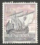 Stamps Spain -  1599 - Homenaje a la Marina Española, Nave medieval