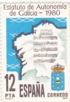 Sellos de Europa - España -  Estatuto de Autonomía de Galicia-1980 (15)