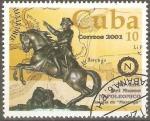 Stamps Cuba -  40th  ANIVERSARIO  DEL  MUSEO  NAPOLEÒNICO.  ESTATUA  ECUESTRE,  MAPA  DE  BATALLA  DE  MARENGO.