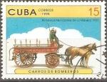 Sellos de America - Cuba -  CARROS  DE  BOMBEROS.  BOMBEROS  MUNICIPALES  DE  LA  HABANA  1905.