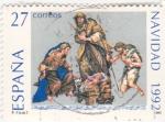 Stamps Spain -  Navidad 1992  (15)