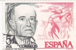 Sellos de Europa - España -  Manuel de Falla -compositor  (15)