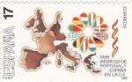 Sellos de Europa - España -  Ingreso de Portugal y España en la C.E.  (15)