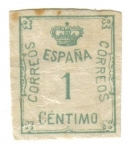 Stamps Europe - Spain -  1 centimo