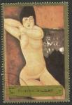 Stamps : Asia : United_Arab_Emirates :  Pintura de Modigliani