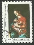 Stamps : Africa : Guinea_Bissau :  Pintura de Morales