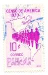 Sellos de America - Panamá -  censo de america