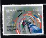 """Stamps of the world : Spain :  Edifil  4848  Ciencia.  """" 60 años Org. Europea para la Investigación Nuclear. """""""