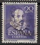 Sellos de Europa - España -  ESPAÑA SEGUNDO CENTENARIO Nº 1074 (0) 20C VIOLETA OSCURO LITERATOS