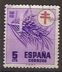 Sellos de Europa - España -  ESPAÑA SEGUNDO CENTENARIO USD Nº 1084 (0) 5C VIOLETA PRORUBERCULOSOS