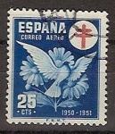 Sellos de Europa - España -  ESPAÑA SEGUNDO CENTENARIO USD Nº 1087 (0) 25C AZUL CRUZ DE LORENA