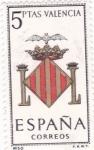Sellos de Europa - España -  VALENCIA - Escudos de las capitales españolas (15)