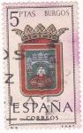 Stamps Spain -  BURGOS- Escudos de las capitales españolas (15)
