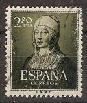 Sellos de Europa - España -  ESPAÑA SEGUNDO CENTENARIO Nº 1096 (0) 2,8P VERDE BRONCE ISABEL LA CATOLICA