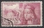 Sellos de Europa - España -  ESPAÑA SEGUNDO CENTENARIO Nº 1099 (0) 1,3P LILA ROSACEO ISABEL LA CATOLICA