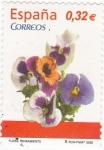 Stamps Spain -  Flora- pensamiento (15)