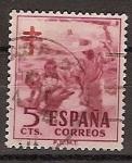 Sellos de Europa - España -  ESPAÑA SEGUNDO CENTENARIO USD Nº 1103 (0) 5C CARMIN OSCURO PROTUBERCULOSOS