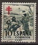 Sellos de Europa - España -  ESPAÑA SEGUNDO CENTENARIO USD Nº 1104 (0) 10C VERDE PROTUBERCULOSOS
