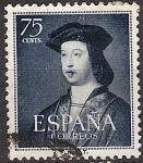 Sellos de Europa - España -  ESPAÑA SEGUNDO CENTENARIO USD Nº 1107 (0) 75C AZUL OSCURO FERNANDO EL CATOLICO.