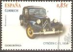 Stamps Spain -  COCHES  DE  LA  ÈPOCA.  CITRÖEN  C - 1.   1934.