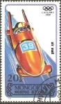 Stamps Mongolia -  OLIMPÌADAS  DE  INVIERNO.  BOBSLEIGH.