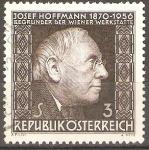 Sellos de Europa - Austria -  JOSEF  HOFFMANN.  ARQUITECTO.