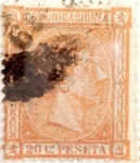 Stamps Spain -  20 céntimos 1875