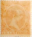 Sellos de Europa - España -  75 céntimos 1889